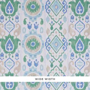 5010710 ELIZIA IKAT Green & Blue Schumacher Wallpaper