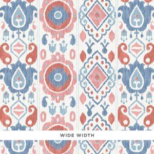 5010712 ELIZIA IKAT Rose & Indigo Schumacher Wallpaper