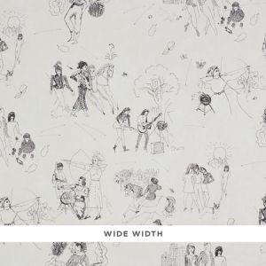 5011080 TOILE DE FEMMES Parchment Schumacher Wallpaper