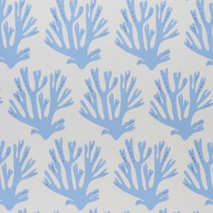5011201 CORAL BLUE Schumacher Wallpaper