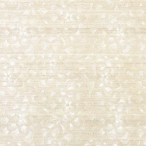 5011210 LOTUS EMBROIDERY SISAL IVORY Schumacher Wallpaper