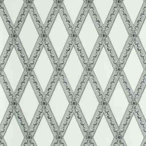 5011361 LES LOSANGES TOILE Carbon Schumacher Wallpaper