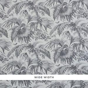 5011481 TOILE TROPIQUE Black Schumacher Wallpaper