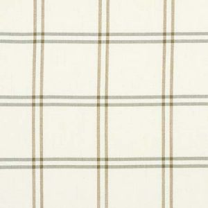 55717 LUBERON PLAID Natural Schumacher Fabric