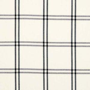 55718 LUBERON PLAID Black Schumacher Fabric