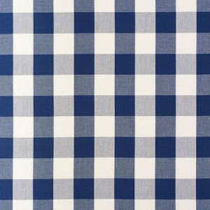 63043 CAMDEN COTTON CHECK Navy Schumacher Fabric
