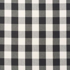 63044 CAMDEN COTTON CHECK Black Schumacher Fabric