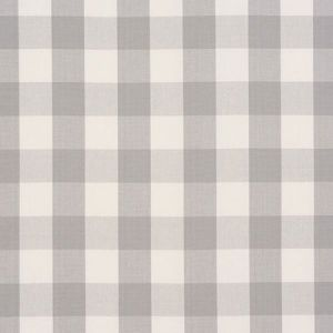 63047 CAMDEN COTTON CHECK Grey Schumacher Fabric