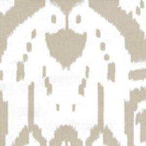 6460-30WP ISLAND IKAT Pumice On White Quadrille Wallpaper
