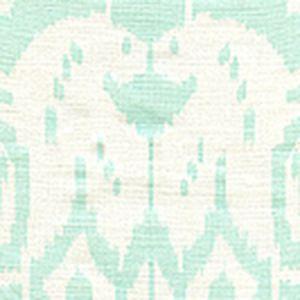 6460-32WP ISLAND IKAT Pale Aqua On White Quadrille Wallpaper