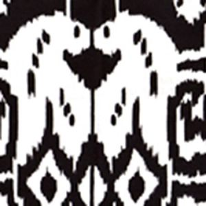 6460-33WP ISLAND IKAT Black On White Quadrille Wallpaper