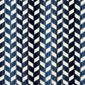 72811 CHEVRON STRIE VELVET Lapis Schumacher Fabric
