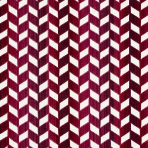 72812 CHEVRON STRIE VELVET Garnet Schumacher Fabric