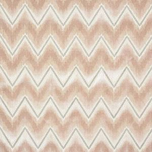 72840 CHEVRON VELVET Blush Schumacher Fabric