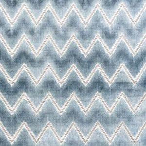 72842 CHEVRON VELVET Mineral Schumacher Fabric
