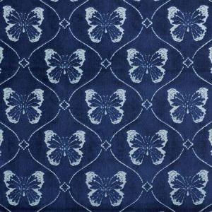 72962 PAPILLON VELVET Sapphire Schumacher Fabric