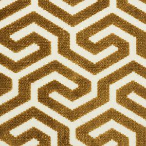 73102 MING FRET VELVET Bronze Schumacher Fabric
