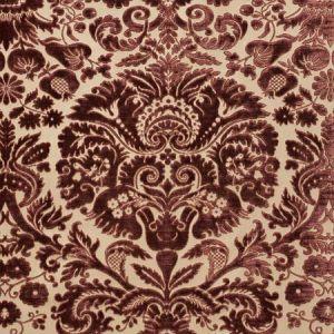 74072 MORIMONT VELVET Rosewood Schumacher Fabric