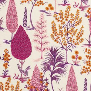 74171 PANDORA EMBROIDERY Aubergine Schumacher Fabric