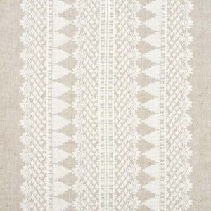 75472 WENTWORTH EMBROIDERY Natural Schumacher Fabric