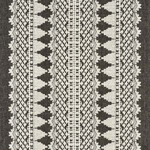 75474 WENTWORTH EMBROIDERY Carbon Schumacher Fabric