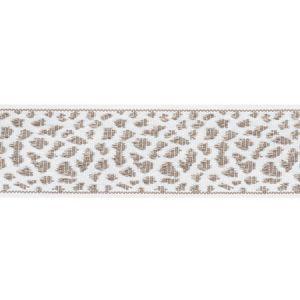 75854 Leopard Tape Taupe Schumacher Trim