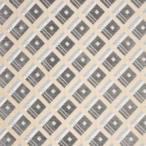 76011 LEGRAD ARGYLE Charcoal Schumacher Fabric