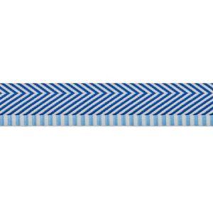 76113 CHEVRON TWILL TAPE Blue Schumacher Trim
