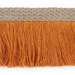 76262 Braided Linen Fringe Orange Schumacher Trim