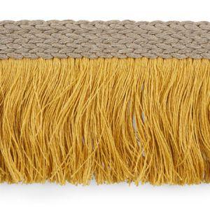 76263 Braided Linen Fringe Gold Schumacher Trim