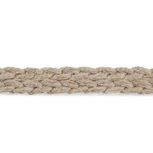 76274 Braided Linen Tape Narrow Natural Schumacher Trim