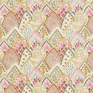 76312 ALBIZIA EMBROIDERY Pink Leaf Schumacher Fabric