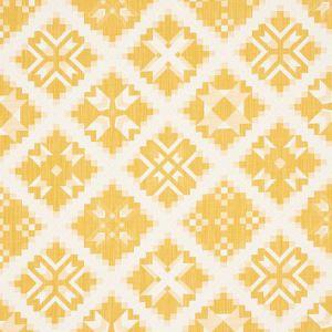 76762 TRISTAN PATCHWORK Yellow Schumacher Fabric