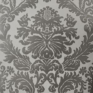 90014W MANDERLEY M Coarse Silver 01 Vervain Wallpaper