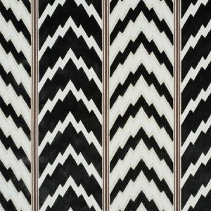 77111 FLORENTINE VELVET Black Schumacher Fabric