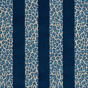 77140 GUEPARD STRIPE VELVET Mediterranean Schumacher Fabric