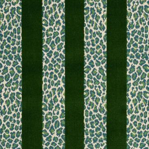 77141 GUEPARD STRIPE VELVET Emerald Schumacher Fabric