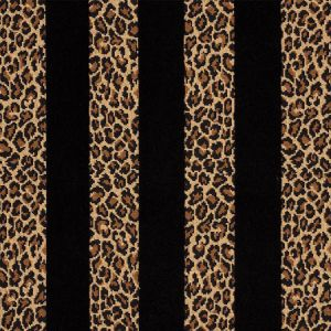 77142 GUEPARD STRIPE VELVET Black Schumacher Fabric
