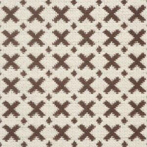 77202 ELIAS Brown Ecru Schumacher Fabric