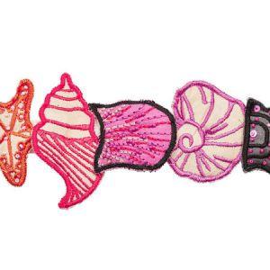 77261 SEA TREASURES TAPE Pink Schumacher Trim