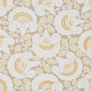 77300 JACKIE APPLIQUE EMBROIDERY Natural Schumacher Fabric