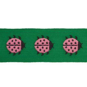 77392 LADYBIRD TAPE Pink & Green Schumacher Trim