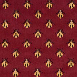 77410 BEE EPINGLE Red Schumacher Fabric
