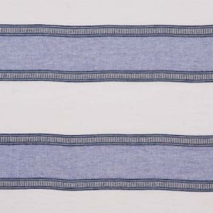 77431 SENITA STRIPE SHEER Blue Schumacher Fabric