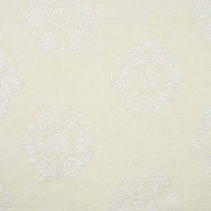 77491 ISLA HAND EMBROIDERY Ivory Schumacher Fabric
