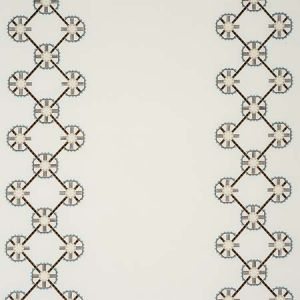 77600 CHAMIZAL EMBROIDERY Neutral Sky Schumacher Fabric