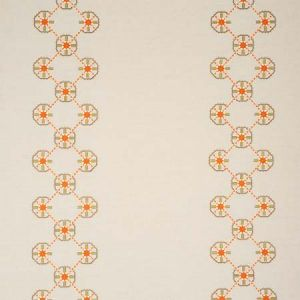 77602 CHAMIZAL EMBROIDERY Orange Pink Schumacher Fabric