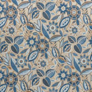 77761 GARLAND VELVET Blue Schumacher Fabric