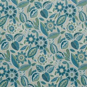 77762 GARLAND VELVET Peacock Schumacher Fabric