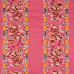 78092 LOTAN DRAGON EMBROIDERY Pink Schumacher Fabric